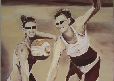 Beachvolley | 100 x 100cm
