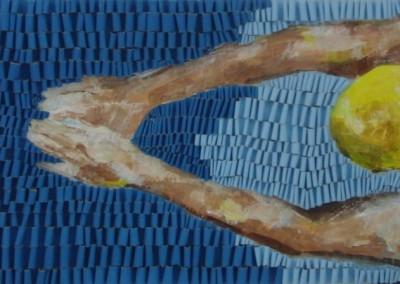 Brustschwimmerin gelb | 60 x 200cm