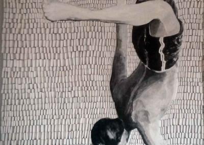 Junge am Steg Salto | 150 x 150cm