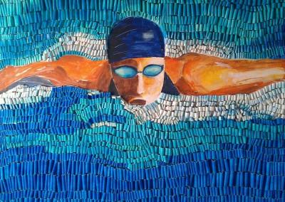 Schwimmerl | 120 x 140cm