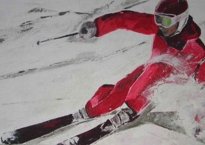 Skifahrerin | 160 x 80cm