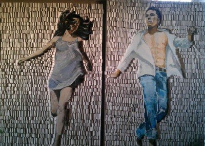 summer girl and boy | je 100 x 155cm