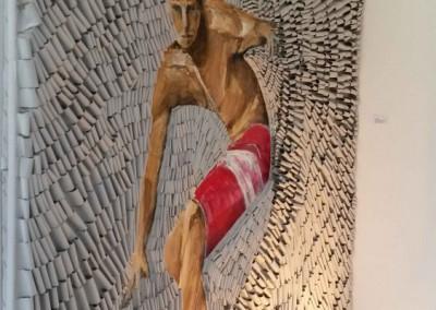 Surfe rot | 160 x 160cm