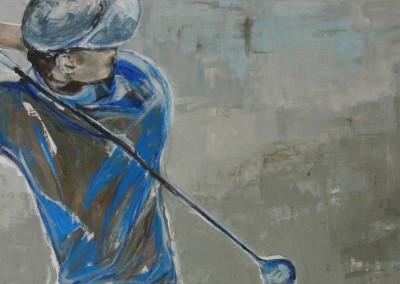 Golfer blau | 60x120cm