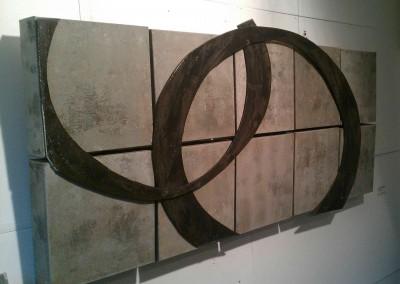 Kontraste Ellipse grau | 150 x 60cm