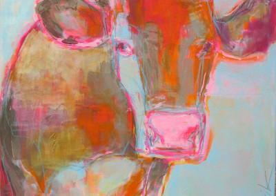 Kuh blau | 90 x 90cm