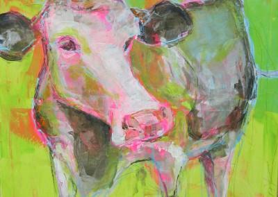 Kuh gruen | 90 x 90cm