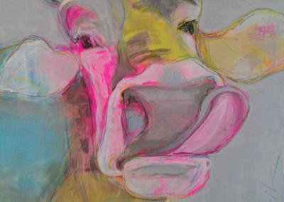 Kuh pastell | 90 x 90cm
