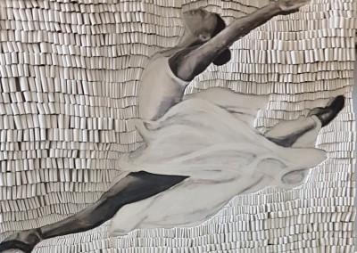 Ballerina schw _w 110 x 140 cm
