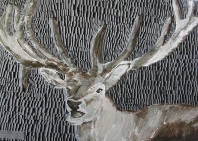Hirsch, Hamrik, Acryl auf Leinwand, Schlaufentechnik,100 x 150 cm (2)