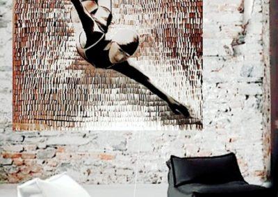 Turmspringerin 150 x 150 cm